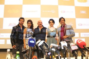 The Team of Krrish 3 (L-R) - Hrithik Roshan, Priyanka Chopra, Director Rakesh Roshan, Kangna Ranaut and Vivek Oberoi